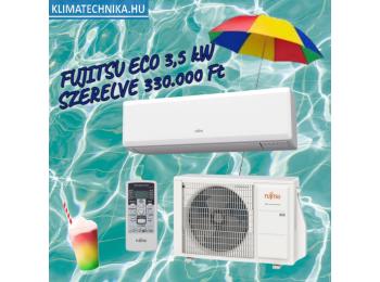 Fujitsu ECO oldalfali split 3,4 kW szett ASYG12KPCA / AOYG12