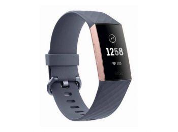 Pulzusmérő Fitbit Charge 3 OLED Bluetooth 4.0 GPS Fekete