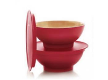 Allegra desszertes kehely 275 ml piros/arany Tupperware