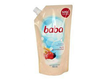 Folyékony szappan utántöltő, 0,5 l, BABA, tej és gyümölcs (KHT454)