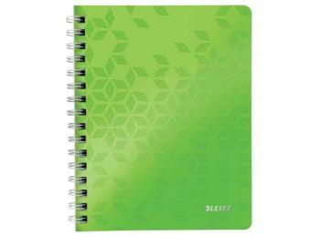 Spirálfüzet, A5, vonalas, 80 lap, LEITZ Wow, zöld (E46390054)