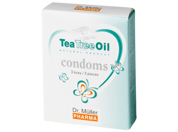Óvszer teafaolajjal 3 db - dr. Müller