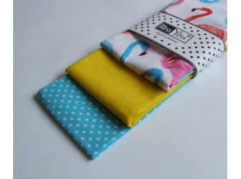 Textil zsebkendő L méret flamingó 3 db-os - Bless You