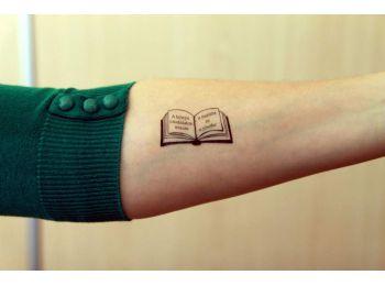 Idézetes könyv tetoválás matrica csomag