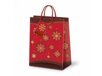 Dísztasak - Karácsonyi piros gömbök közepes 00789721