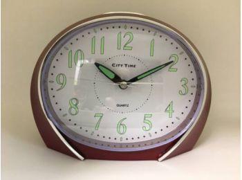City Time A152C2 bordó ébresztő óra