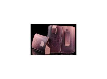 Telone Deko 3 álló bebújtatós bőrtok pink (S6810, S5230