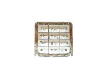 Nokia E65 alsó billentyűzet ezüst A típusú*