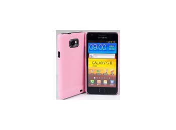Jekod Shield bőr hátlaptok kijelzővédő fóliával Samsung i9100, i9105, Galaxy S2-höz rózsaszín*