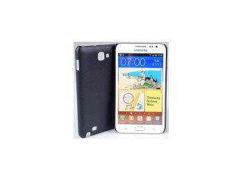 Jekod Shield bőr hátlaptok kijelzővédő fóliával Samsung i9220 (N7000) Galaxy Note-hoz fekete*