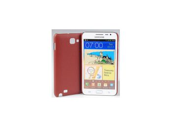 Jekod Shield bőr hátlaptok kijelzővédő fóliával Samsung i9220 (N7000) Galaxy Note-hoz barna*