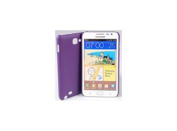 Jekod Shield bőr hátlaptok kijelzővédő fóliával Samsung i9220 (N7000) Galaxy Note-hoz lila*